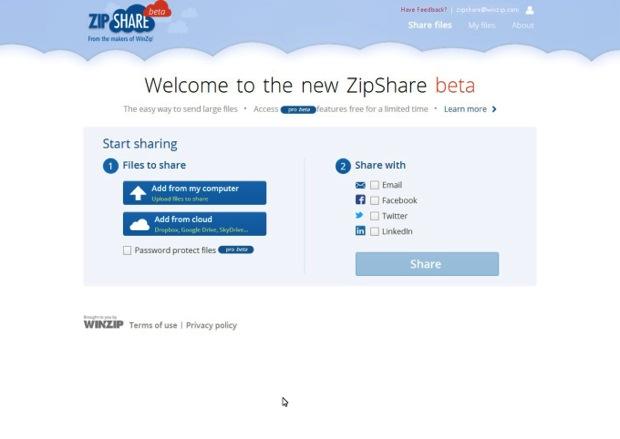 Zipshare log in