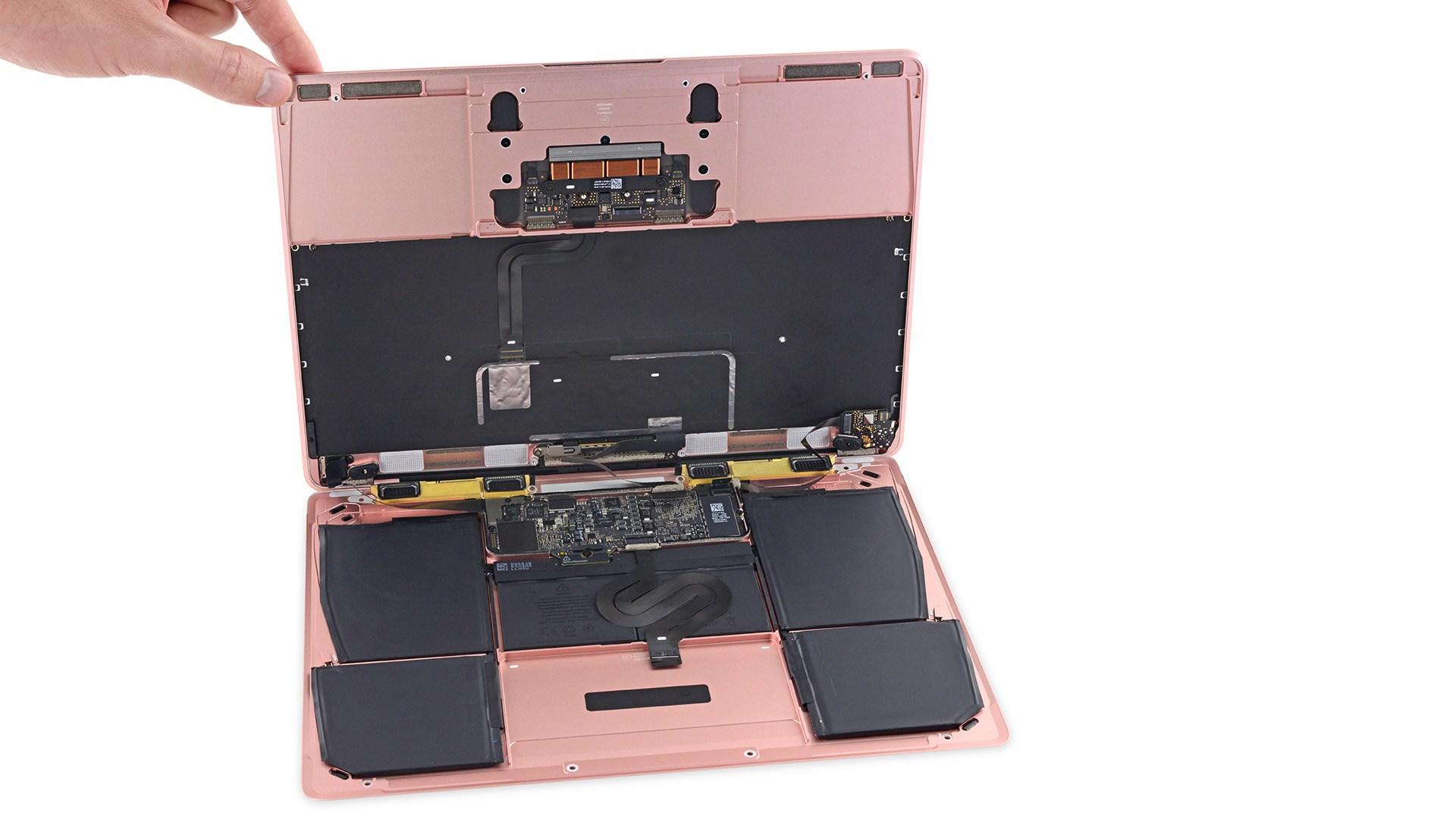 粉紅版MacBook 2016 被拆解完成,愛八掛的看過來! | Qooah