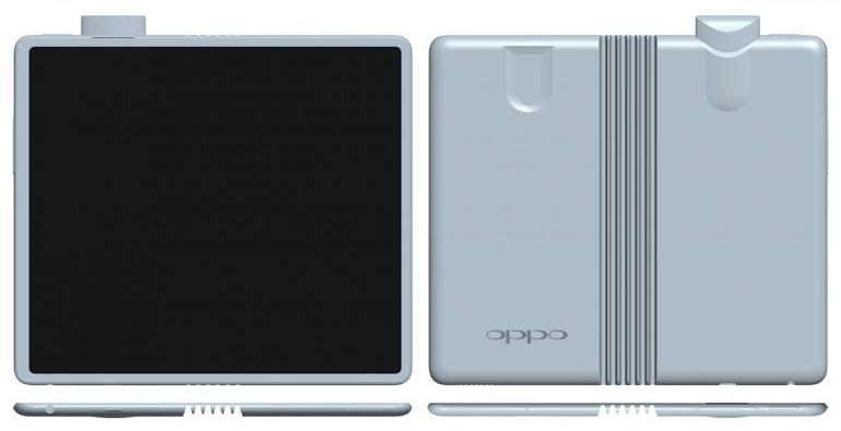 OPPO 折叠屏幕手机设计曝光,采用升降式镜头的组合