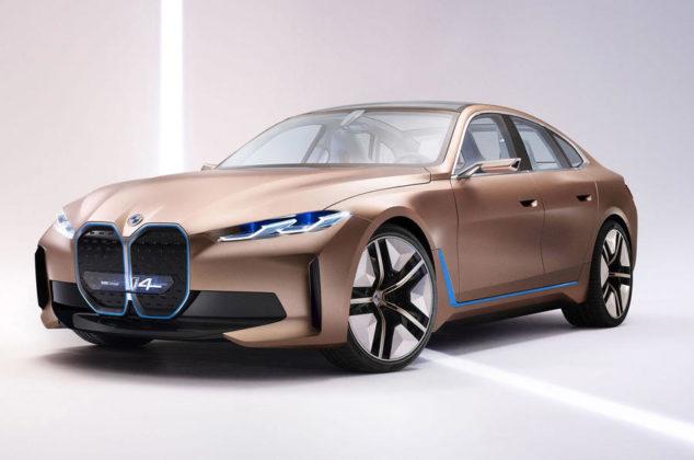 BMW 发布纯电概念车i4,523匹马力+超大鼻孔